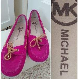 Michael kors boating loafers pink swade sz 10
